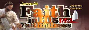 July - Faith in His Faithfulness